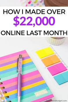 Learn how I made over $22,000 online last month. This amount comes from blogging, products, courses, affiliate income and more! I'm sharing all my tips in my latest online income report.
