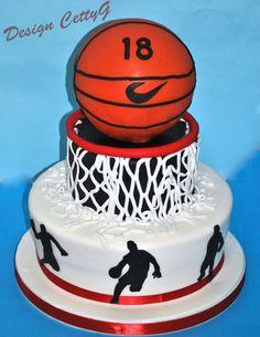 Le torte decorate di CettyG...: 18° compleanno tema Basket...