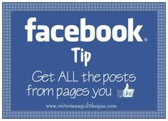 Facebook Tips - Get ALL the posts from the pages you Like!