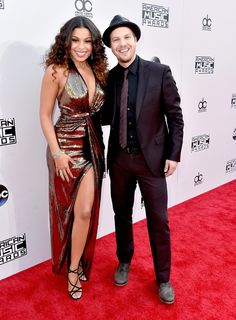 Jordin Sparks and Gavin DeGraw at the American Music Awards #AMAs2014