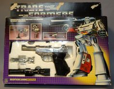 1984 Hasbro ORIGINAL FIRST SERIES TRANSFORMER! MEGATRON Decepticon from the Planet Cybertron  Based on Takaras Tomy Microman MC-12 Gun Robo