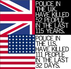 Police killings. (The U.S. population is 5X that of the UK. So that makes a huge difference. Doesn't it?! DOESN'T it?!)
