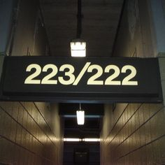 Giants Stadium Section Sign: 223/222