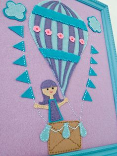 Felt Hot Air Balloon Art: not this exactly, but I might use the idea sometime