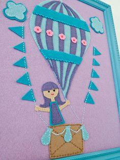 Felt Hot Air Balloon Art