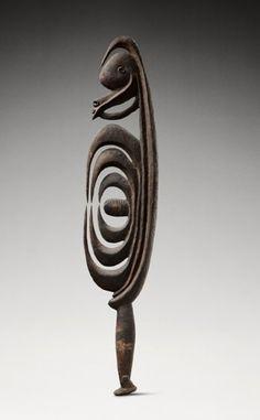 Oceania - Ritual signs, authority symbols/Figure anthropomorphe, yipwon_Nouvelle-Guinée, moyen du Sepik, Haut Karawari