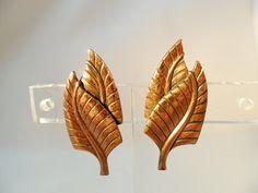 Vintage Earrings Signed KIM Copper Metal Screwback by KathiJanes