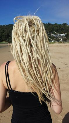 white blonde dreadlocks bohemian dreads @ Lorne beach autumn 2014