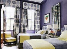 Lavender twin bed room