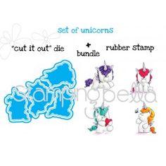 Die Stamping Bella Set of Unicorns Cut it Out Dies
