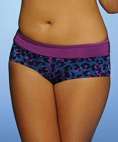 Take a look at this Purple Caribbean Curves Boyshort Bikini Bottoms by Curvy Kate on #zulily today!