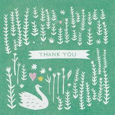 The Printed Peanut - Thank You Card, £2.50 (http://www.theprintedpeanut.co.uk/thank-you-card/)