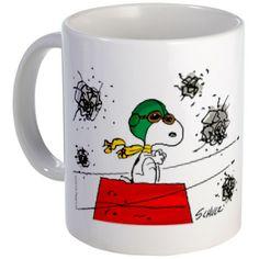 Flying Ace Dodging Bullets Mug #Mug #Snoopy