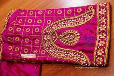 Hand Work Blouse Design, Simple Blouse Designs, Check Designs, Hand Designs, Bridal Chura, Wedding Saree Blouse Designs, Maggam Work Designs, Maggam Works, Fashion Blouses