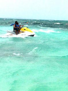 Jet ski on Paradise Island Bahamas Vacation, Paradise Island, Jet Ski, Skiing, Past, Waves, Adventure, Photos, Outdoor