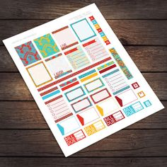 Printable Stickers for Erin Condren Life Planner Planner Stickers