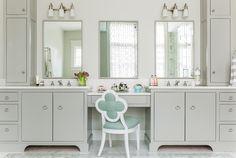 Portfolio - Elements of Style Blog- master bathroom, grey vanity