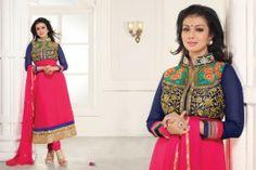 Ayesha Takia In Pink & Blue Anarkali, eid sale, designer anarkali, buy anarkali online, indian fashion