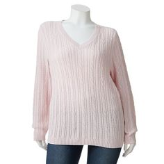 Croft & Barrow Essential Cable-Knit Sweater - Women's Plus