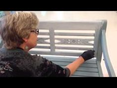 Painting a bench with Linnea, Colors of Sweden Paint Part 1 - YouTube