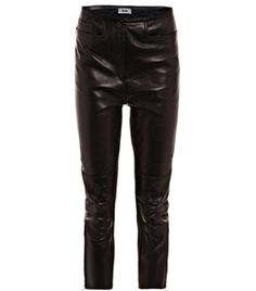 Dust Leather Moto Trousers by Acne. #Matchesfashion