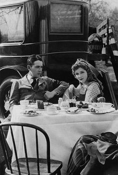 Jack and Mary Pickford on the set of Through the Back Door, 1921.