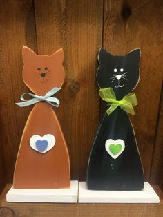 Cute cat décor handcrafted by adults with intellectual and developmental disabilities.