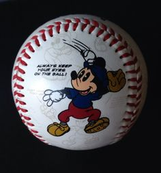 Mickey Mouse Baseball Walt Disney World Shows Theme Park Bat Collectible Ball #WaltDisneyWorld