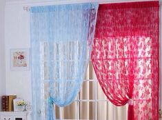 New Butterfly Pattern Sheer Curtain Window Balcony Tassel Room Divider Fashion Home Curtains, Window Curtains, Extra Long Curtains, Curtain Divider, Gland, Butterfly Pattern, How To Better Yourself, Home Textile, Tassels