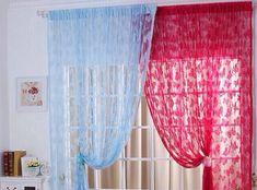 New Butterfly Pattern Sheer Curtain Window Balcony Tassel Room Divider Fashion Home Curtains, Window Curtains, Extra Long Curtains, Curtain Divider, Butterfly Pattern, How To Better Yourself, Home Textile, Tassels, Branding Design