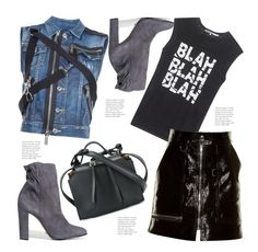 """Punk Rockin It!"" by hattie4palmerstone ❤ liked on Polyvore featuring Dsquared2, Pam & Gela, Isabel Marant, Jil Sander and Schutz"