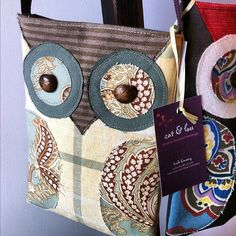Cute owl purse by CatandLou (etsy) #galaxypictureframes #lindsay #ontario   Instagram