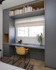 Small room design – Home Decor Interior Designs Small Room Design, Home Room Design, Home Office Design, Home Office Decor, Home Interior Design, Home Decor, Home Office Bedroom, Study Room Design, Bedroom Closet Design