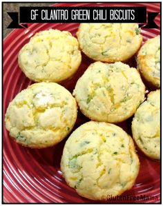 Cilantro Green Chili Biscuits ~ Gluten Free - G-Free Foodie Food Network Recipes, Real Food Recipes, Cooking Recipes, Yummy Food, Allergy Free Recipes, Low Carb Recipes, Gf Recipes, Muffin Recipes, Scones Ingredients