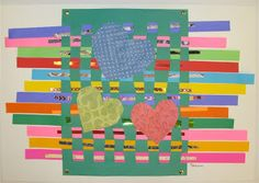 A lovely project for the kids to do in time for Valentines! From Mrs Picasso's Art Room.