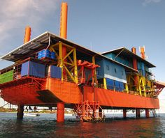 Seaventures Rig Resort, Pulau Mabul, Malaysia An oil rig is planted on top of the Coral Triangle, one of the world's most spectacular dive l...