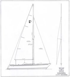 Here is the Tartan Ten . Developed in the was developed as a racing/cruising/daysailing boat that was not designed to any speci. White Cottage, Yachts, Sailboat, Navy And White, Tartan, Sailing, Design, Products, Sailing Boat