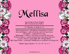 Search results for melissa | Angies Creation