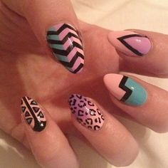 Spring Nail Art Inspiration....must try this! If only my nails were that long