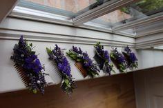 Lavender Bridal hair combs