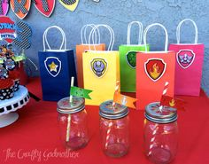 Nick Jr Paw Patrol Party Favor Bag by TheCraftyGodMother on Etsy