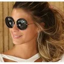 4121548b09782 Óculos De Sol Retrô Vintage Redondo Estilo Miu Miu
