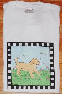 Golden Retriever Puppy T shirt by JennysDogArt on Etsy, $15.00