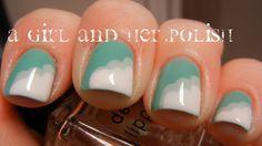 Clouds Cute Nails, Pretty Nails, Fingernail Designs, Easy Nail Art, Simple Designs, Nail Polish, Clouds, Beauty Ideas, Nifty