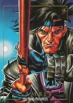 Gambit. Marvel Masterpieces Series 1 1992 [Marvel- Skybox] Card Set, Issue #0029a.