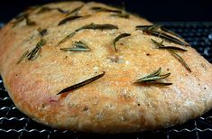 Spelt focaccia bread