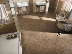 Fap Ceramiche: bathroom tiles and floor coverings Porcelain Wood Tile, Ceiling Materials, Eco Label, Tile Patterns, Contemporary Interior, Stoneware, Tile Floor, Tiles, Indoor