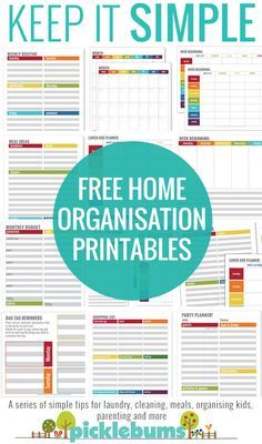 Tips for Meal Planning Free home organisation printables - simple ways to manage your householdFree home organisation printables - simple ways to manage your household Budget Organization, Home Organisation, Household Organization, Household Binder, Household Notebook, Calendar Organization, Organizing Tips, Organizing Your Home, Printables Organizational