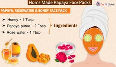 Experience a soothing papaya facial using the best papaya face packs for skin whitening, to get rid of pigmentation, pimples & lot more. Papaya Face Pack, Papaya For Skin, Papaya Facial, Beauty Tips With Honey, Natural Beauty Tips, Natural Skin Care, Honey Facial, Skin Care Remedies, Facial Care