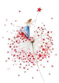Nieuwjaarsbrieven 2016 Illustratie An Melis Christmas Illustration, Illustration Art, Illustrations, Whimsical Art, Christmas Art, Cute Drawings, Cute Art, Watercolor Art, Artsy